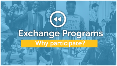 Exchange programs. Why participate?