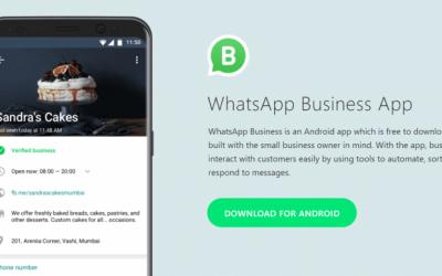 O WhatsApp Business permite que você tenha uma presença comercial no WhatsApp