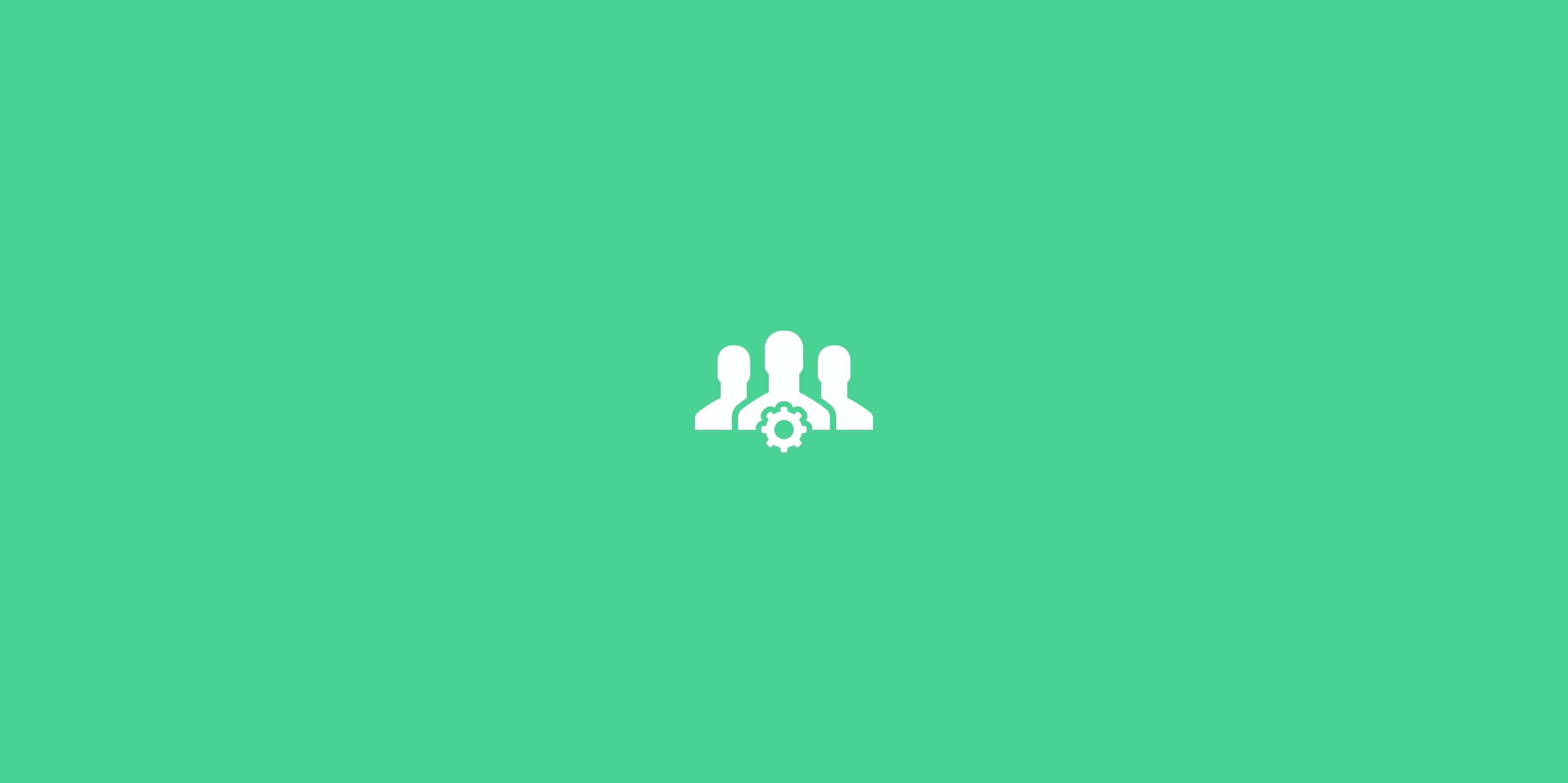 icone de clientes em fundo verde
